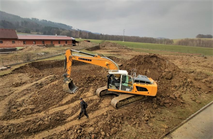 Výstavba skladovací budovy č. III