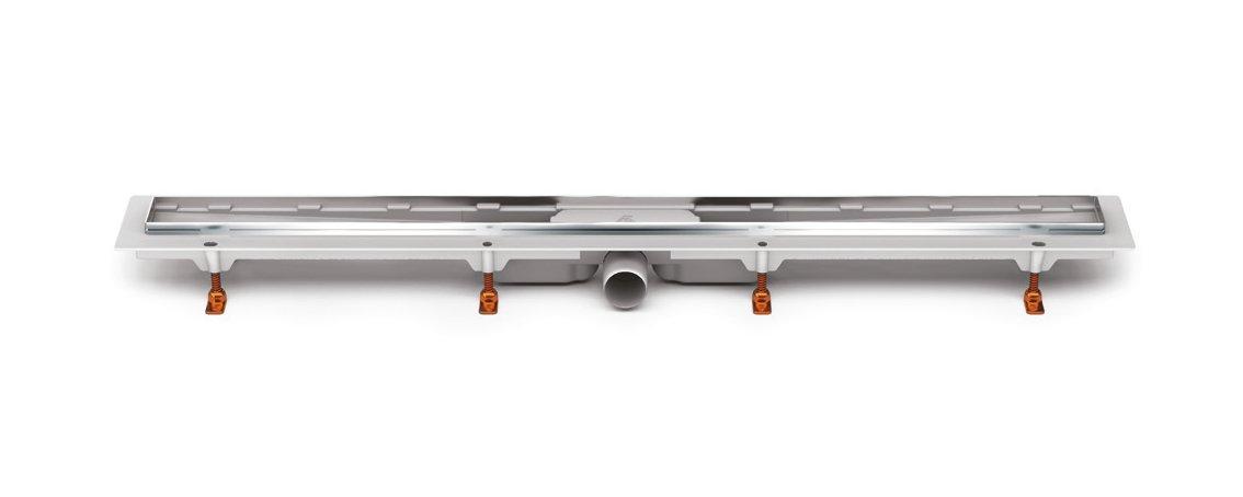 Odtokový žlab s boční výpustí D50 nerez rámečkem (balení bez mřížky)